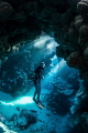 Diver In Caves