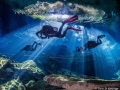 The amazing light shows at Cenote Kukulkan