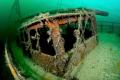 Wreck of the Zeehond, lake Grevelingen, The Netherlands.