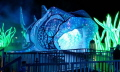 This giant light sculpture of a Port Jackson Shark which you could walk through was part of this years Taronga Zoo Vivid