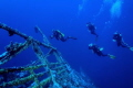 Divers Descend to the wreck of the Numidia For an adventurous wreck dive in the Red Sea  Egypt.