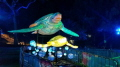 As part of this years Taronga Zoo Vivid a light sculpture of Marine Turtles