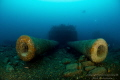 HMS Audacious WW1 wreck laying on 64meter at Malin Head in Ireland, this is one of the five twin 13,5