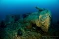 SS Empire Heritage WW2 Wreck, depht is 63meter.