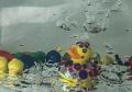 experiental underwater photography - rubber ducks underwater