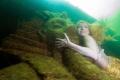 Mermaid Daniela Rodler in artificial lake