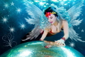 An angel is watching over us. Model: mermaid Nyxe, TODI, Belgium.