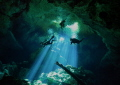 I dived for the first time in Cenote. Although I had diving in the cave before, it was my first time such a beautiful and mysterious experience.