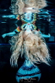 The world upside down. Photoshoot with mermaid Celine.