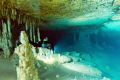 awesome majesty of underwater cave environment