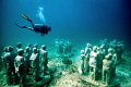 The underwater museum of art in Cancun, better known as MUSA, is one of the most outstanding attractions in the city and both visitors to Cancun and the Riviera Maya (nearby cities to Cancun) visit this place every day, where you can meet doing snork