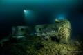 Sherman tanks from the WW2 wreck SS Empire Heritage in Malin Head Ireland. Depth is 63meter.