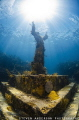 This statue was mounted to the sea floor off Key Largo FL in 1965 and still sits in 25 feet of water to this day.