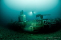 U89 WW1 Sub that which was rammed by the HMS Roxburgh amidships and cut it in two. It is now laying on 62m.