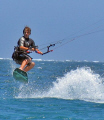 My 12 year old carving it up. Coral Bay