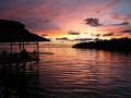 Sunset on Survivor Island (1st series), now a budding dive site