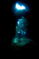 Ross inside 1st Cathedrals Lanai with his big HD housing and rebreather