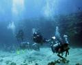 Divers at Fernando de Noronha Island. Brazil.