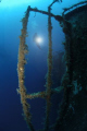 Diver on the wreck of the Zenobia, Cyprus.  Taken with Nikon D100 & 10.5mm.