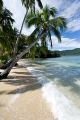 Beautiful shore line of Qamea, Fiji