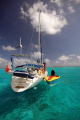 Tobago Cays, vendor and yachties!