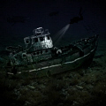 ... the picture of an old fishing boat that has never existed ...