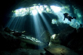 Diver in cenote