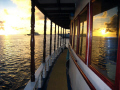 Sunset Reflections on Maldivian Liveaboard