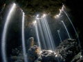 A spectacular natural light show in the caves of Jackfish Alley made for a memorable dive.