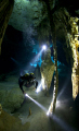 Diver in Cenote Dos Ojos.