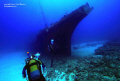 The Stella Maru ,diver coming on to the wreck.Mauritus