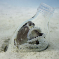 Octopus in a bottle!  Taken between the artificial reefs on Mabul Island near Sipadan.  Canon S90 in a FIX housing, INON strobe