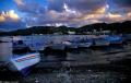 Ras el Bassit harbor at twilight (Syria)