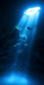 Diver in cenote Pit