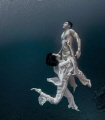 Indonesian fashion underwater shoot. +/- 8m below sea level