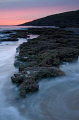 Unusual sunset at Dunraven Bay, Southerndown, South Wales, UK
