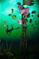 Underwater lily ballroom @ Cenote Car Wash (Aktun Ha)