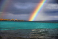 Just shot this Rainbow over Torch Lake. An inland lake in Michigan, the third most beautiful lake in the world