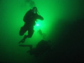 I would like to thank my friend when shooting this scene on a beautiful lake heat of the accident he lost his arm, but still an excellent diver and friend.