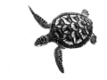 This Green Turtle was in water  but the camera was above  so technically a topside image.  Converted to B W to emphasise the graphic patterns on the turtle.