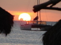 Sunset and the Catamaran